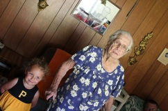 Alee with her mamaw.